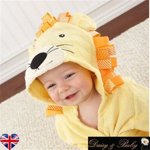 baby kids dressing gown bath towel boy girl hooded children swim Lion animal
