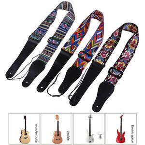 Guitar-Strap-Electric-Guitar-Acoustic-Guitar-Bass-Wide-Guitar-Belt-Adjustable-xc