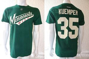 NHL Eishockey T-Shirt MINNESOTA WILD Darcy Kuemper35 grün Trikot Jersey