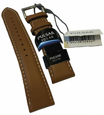 PX5059X1 NEW Pulsar Genuine Replacement Tan Leather Strap - 20mm
