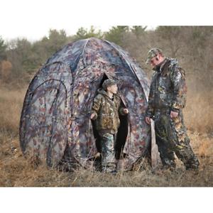Hunting Blind 4 Person Turkey Deer Oak Tree Leaf Rifle Gun Archery Bow Ground