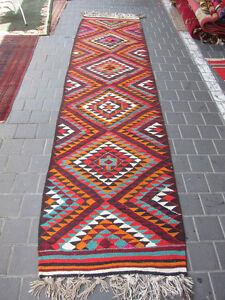 Bedouin Palestinian Runner Kilim Rug Carpet Hand Made