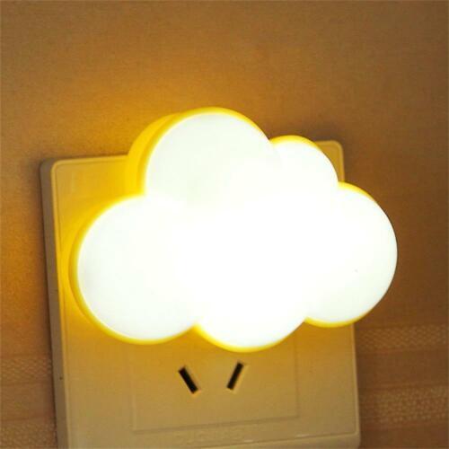 Energy Saving LED Night Light Bedroom Hallway Bedside Nursery Plug-in Wall LampL