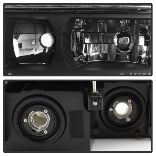 Black Headlights+Parking Lamps For Body Cladding Model 2002-2006 Chevy Avalanche