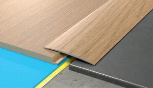 80mm-Wide-Autoadesivo-porta-in-alluminio-effetto-Legno-Pavimento-Bordo-Trim-soglia