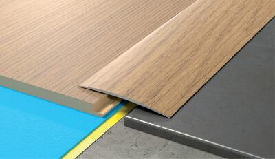 80mm Wide Self Adhesive Aluminium Wood, Laminate Flooring Trim Glue