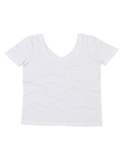 Damen Sommer V-Neck T-Shirt mit U-AusschnittMantis