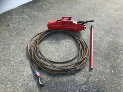 Tirfor 3 Ton Winch C//W 20m Cable and Handle