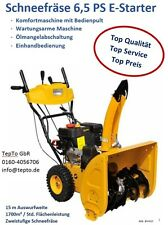 ✅ Schneefräse 6,5Ps Benzin,15m Wurfweite,Einhand,E-start 230V, Fertig Montiert ✅