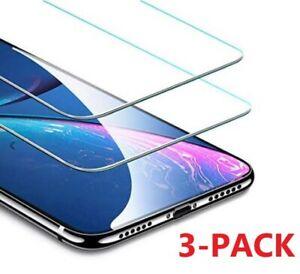 3-Pack Para iPhone 12 11 Pro Max XR X XS 8 7 HD protector de pantalla de vidrio templado