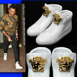 VERSACE-Leather-GOLD-MEDUSA-SNEAKERS-w-Box-amp-Tag-39-5