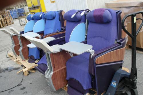 3er Flugzeugsitzbank Business Class Boeing777 2er Sitzbank aus Flugzeug