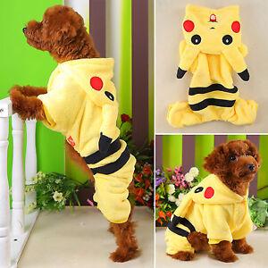 Pet-Dog-Cat-Clothes-Coat-Apparel-Puppy-Warm-Jacket-Hoodie-Pikachu-Costume-Winter