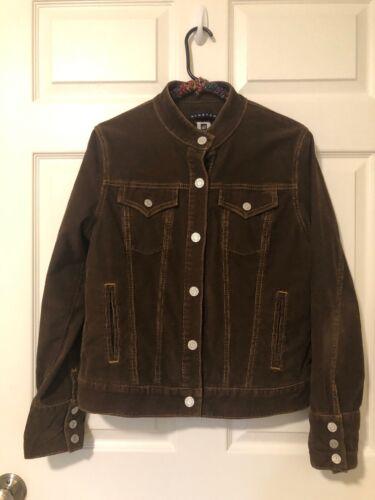Gap Womens Brown Stretch Cordoroy Jacket Size Larg