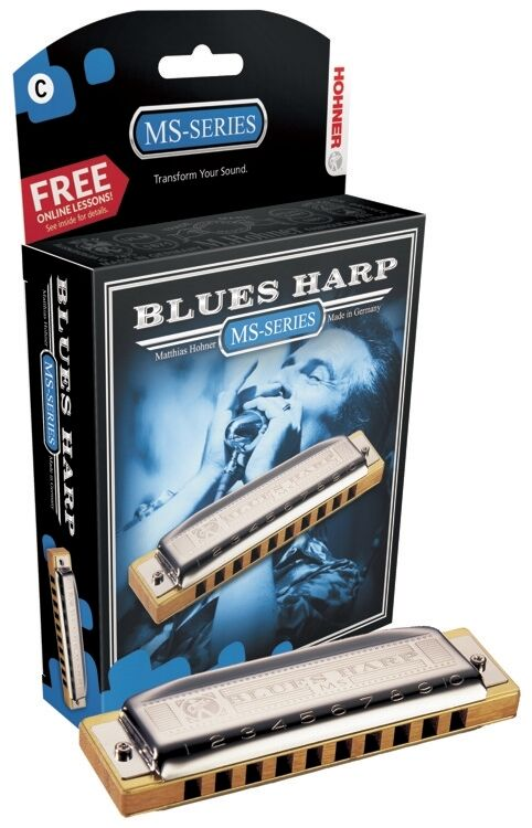 Hohner Blaus Harp Harmonica, Key of G,  Brand NEW in Box