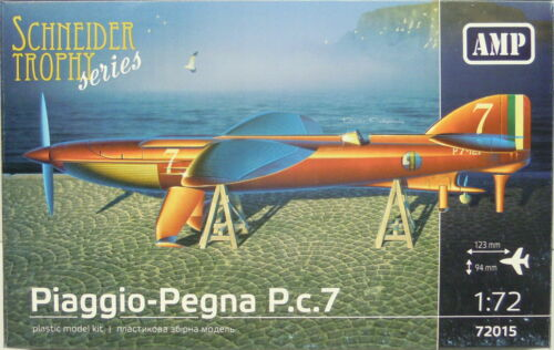 """Neuf /"""" Schneider Trophy Série /"""" AMP Piaggio-Pegna P 1:72 Plastique C.7"""