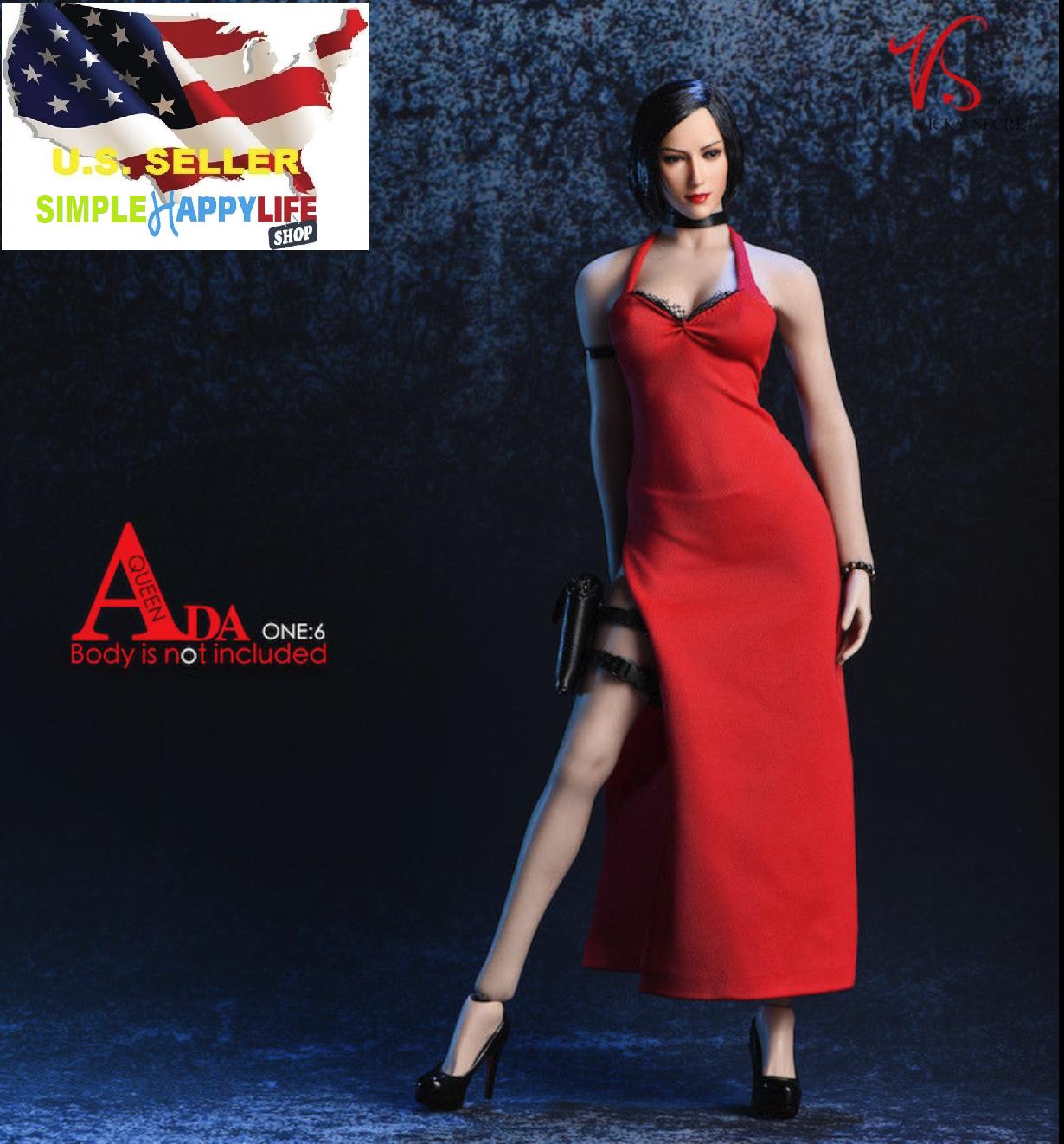 """1//6 Ada Wong Resident Evil Dress set For 12/"""" female figure PHICEN Hot Toys ❶USA❶"""