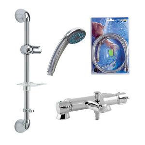 Image Is Loading Deva Thermostatic Bath Shower Mixer Chrome Finish 1