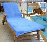 2 Sun Lounger Towel& 2 Bath Towel Set Swimming Beach Massage Non Slip Fold Over