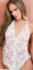 Choice-of-4-Colours-Black-Red-White-Pink-Lace-Babydoll-Teddy-amp-Thong-Size-8-12 thumbnail 7