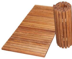 nouveau bambou en bois pliable tapis de bain - Caillebotis Salle De Bain Bois
