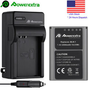 2000mAh-Replacement-BLN-1-Battery-amp-Charger-For-Olympus-OM-D-Series-EM-5-Camera