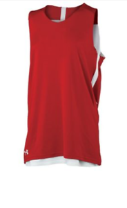 Womens-Fitness-Under-Armour-Basketball-XL-Reversible-Jersey-Red-White-Tank-Top