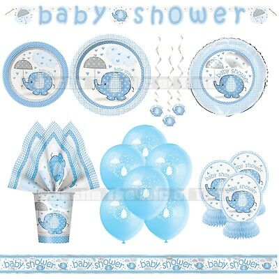 TABLE COVER X1 Umbrellaphants Blue Baby Shower Accessories