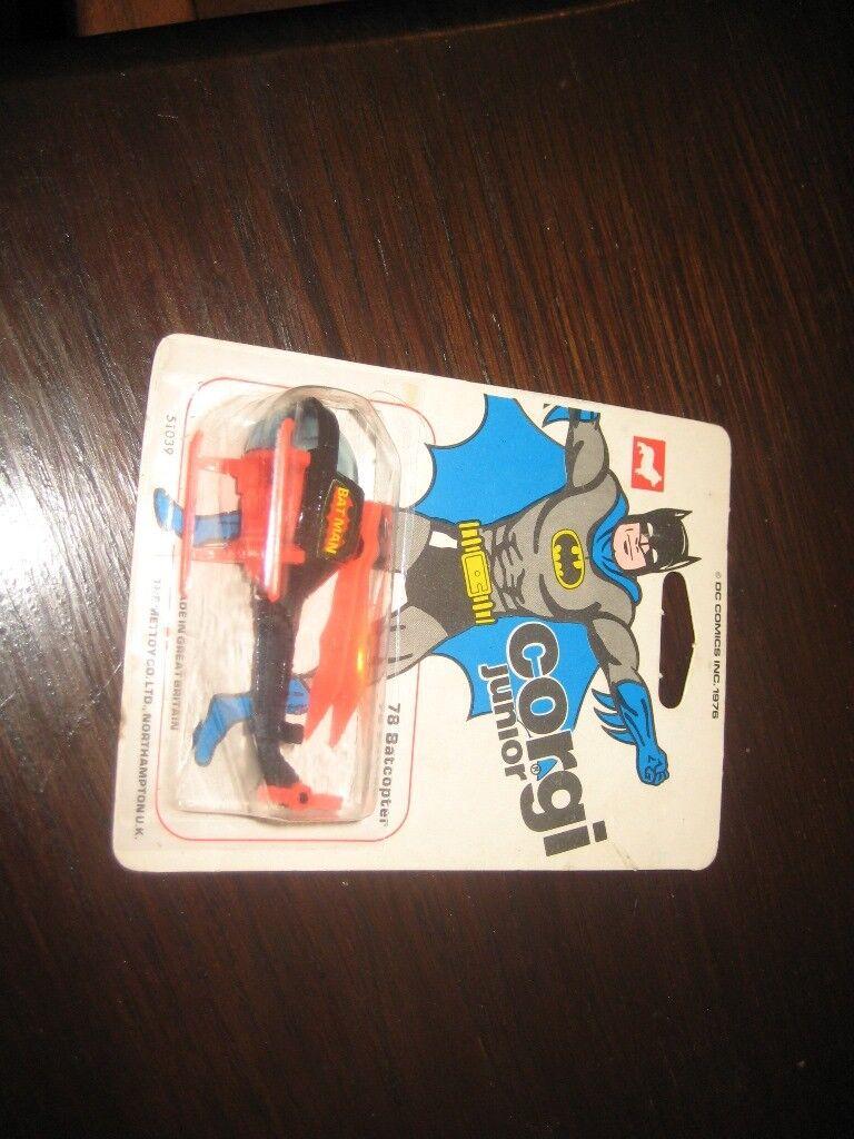 Corgi Junior Junior Junior  78 Batman baticóptero 1976 cardada, Blister Sellado 0c13e7