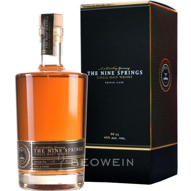 The Nine Springs Triple Cask 3 Jahre 0,5 l Single Malt Whisky Deutschland