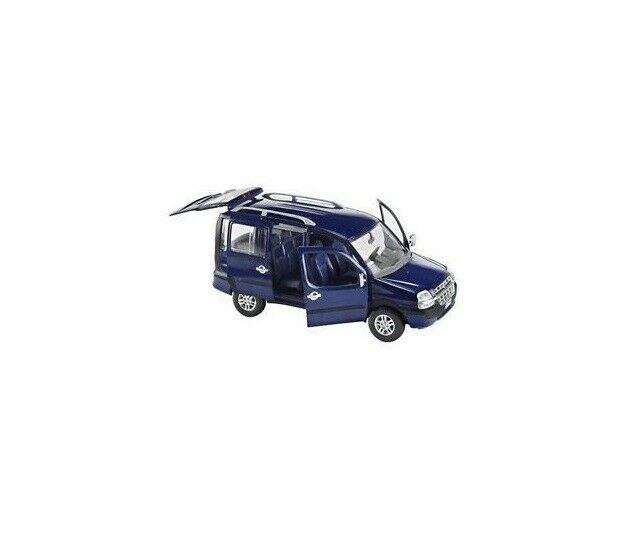 Fiat Doblo Malibu - bluee 1 24 Scale Diecast Model New Boxed