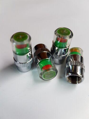 Válvula De Neumático Rueda para Bicicleta de automóvil Monitor casquillos de polvo de la presión del neumático Sensor De Aire 36 PSI para neumáticos