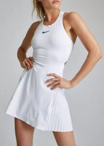 Details About Nike Nikecourt Maria Sharapova Tennis Dress 933199 100 White Size Xl Slim Fit