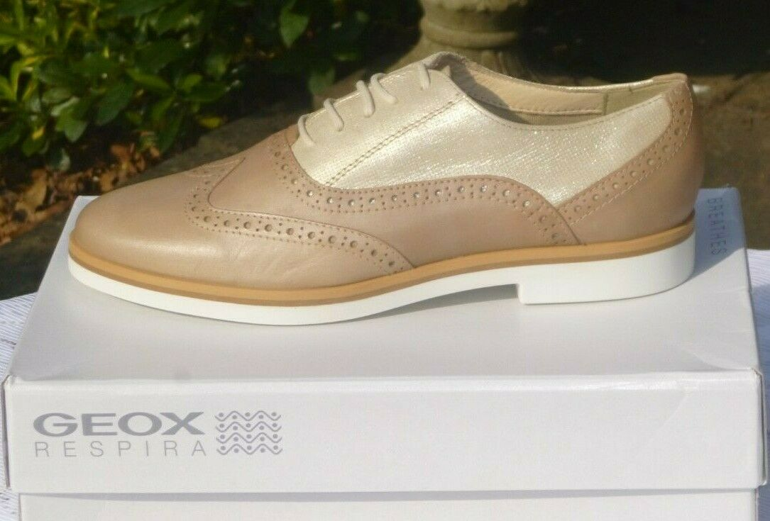 GEOX Respira leather brogues BNWB Size 5.5 (38.5)