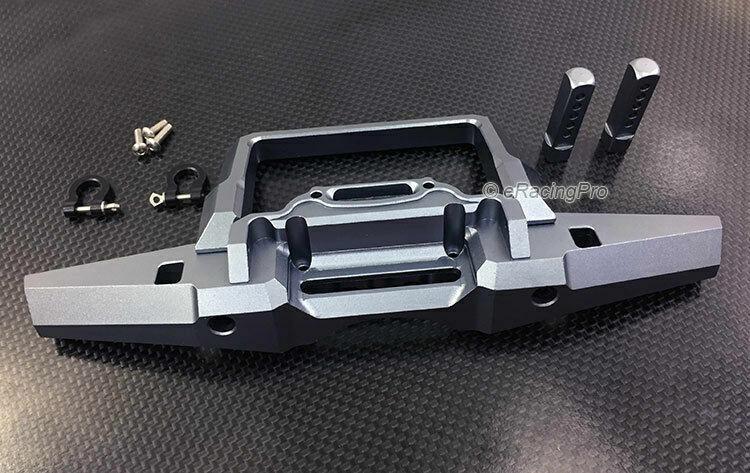 Aleación de parachoques delantero con anillos en D para Crawler Escala TRX4 Trail