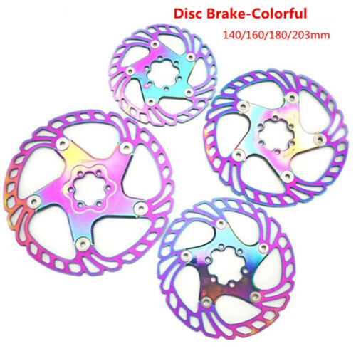 140//160//180//203mm Hydraulic Colorful Mountain Bike MTB Floating Disc Brake Discs