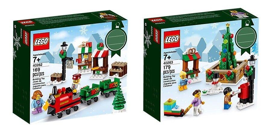 LEGO® (40262) Weihnachtslandschaft & (40263) Weihnachtsmarkt inkl Versand
