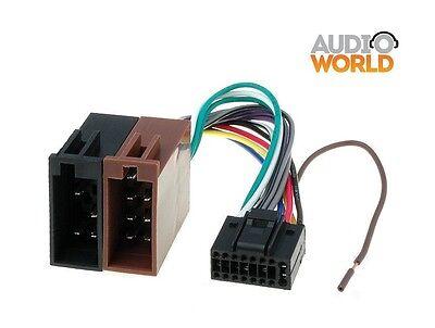Cavo ISO adattatore autoradio cable JVC harness 16 pin con 2 grossi e 14 piccoli