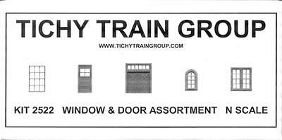 Tichy N ScaleWindow & Door Asst.  80 pieces #2522 Bob The Train Guy