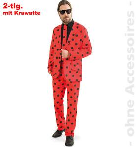 Anzug Käfer mit Krawatte 48-54 Marienkäfer Kostüm Fasching Karneval 1211757G13
