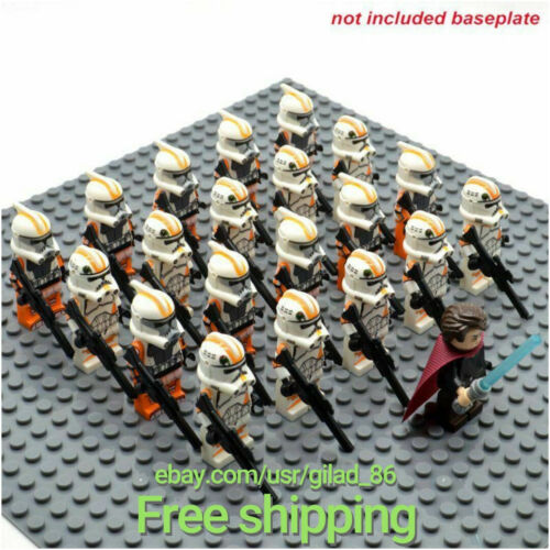 21pcs lot star wars 501st Trooper Clone Trooper printd figurine Minifigure