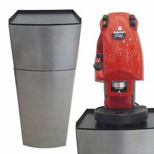 Armoire-Metal-Argent-Porte-Machine-a-Cafe-039-Capsules-Lavazza-Nespresso