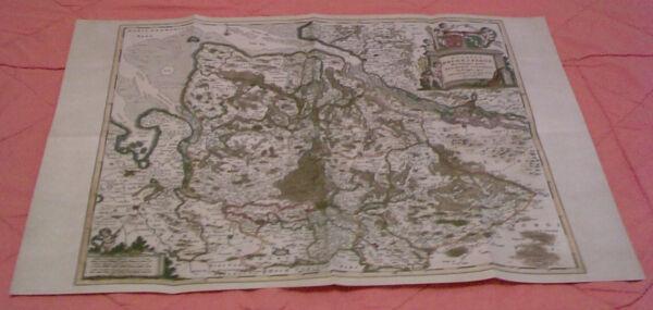 Diszipliniert Landkarte Des Herzogtums Bremen-verden 1695 - Replikat KöStlich Im Geschmack