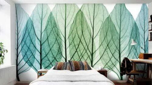 Tree Leaves Watercolor  Wallpaper Wall Decals Wall Art Print Mural