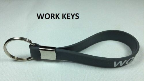 "KEY RING LOOP FOB KEYRING WITH MESSAGE /""WORK KEYS/"" HOME KEYRING KEYS"