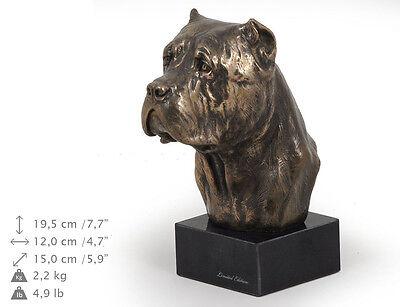 CA ArtDog dog bust marble statue Poodle