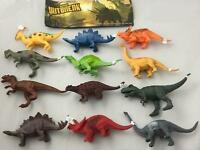12 Assorted Play 7 Inch Dinosaurs Prehistoric Toy Dinosaur Plastic Pvc Novelty