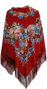 Large-Russian-Slavonic-folk-vintage-floral-style-scarf-shawl-new-Autumn-2019