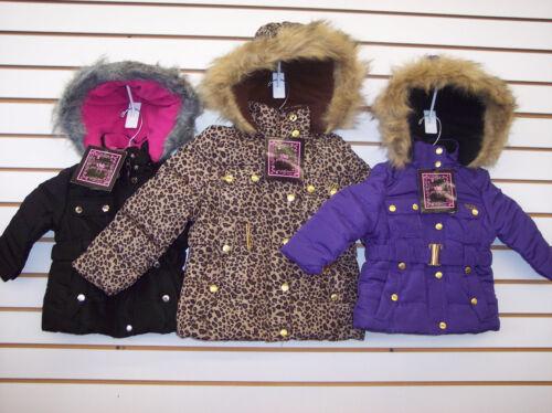 6X Toddler /& Girls YMI Assorted Plush Jackets w// Snap /& Faux Fur Trim Size 2T