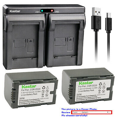 LCD USB Battery Charger for Panasonic PV-GS2 PV-GS14 PV-GS15 Camcorder PV-GS9 PV-GS12
